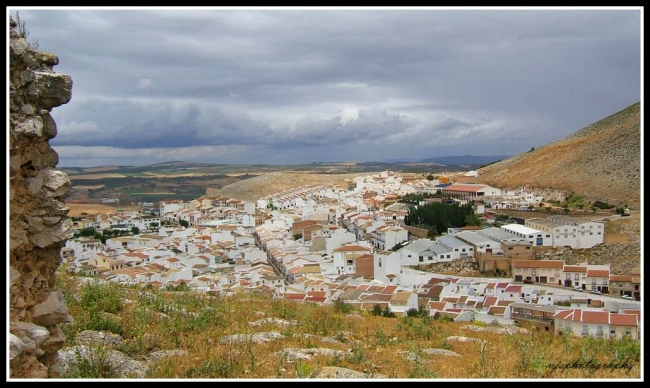 Looking Down on Teba from Castillo